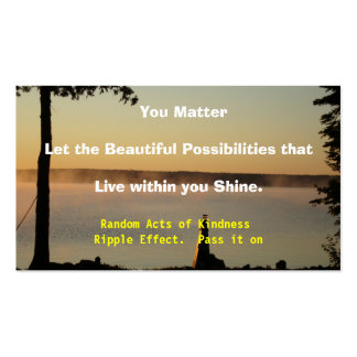 kindness Double-Sided standard business cards (Pack of 100)