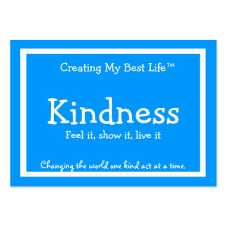 Kindness Card - Blue Business Card Template