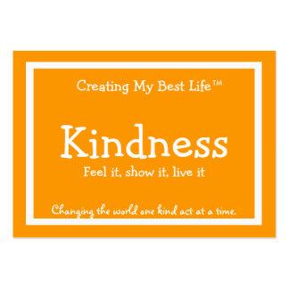 Kindness Card - Orange & Gold Business Cards