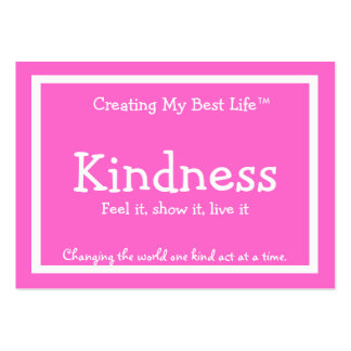 Kindness Card - Pink Business Card Templates