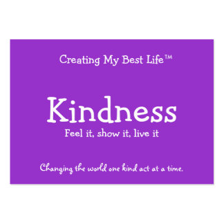 Kindness Card - Purple & Lavender Business Card