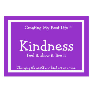 Kindness Card - Purple & Lavender - Customized v2 Business Card Template
