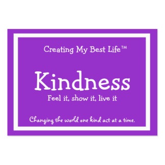 Kindness Card - Purple & Lavender with border Business Card