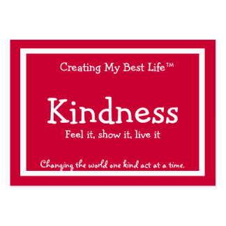 Kindness Card - Red Business Card