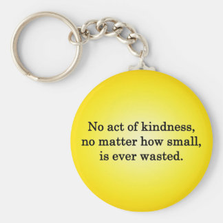 Kindness Grows Sweeter with Each Remembering Basic Round Button Key Ring