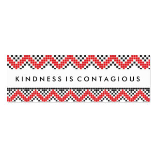 Kindness Is Contaigous Challenge Card Pack Of Skinny Business Cards