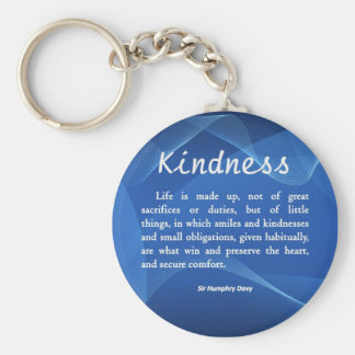 Kindness is Life Basic Round Button Key Ring