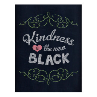 Kindness is the New Black Inspirational Postcard