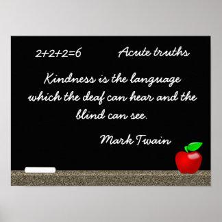 Kindness - Mark Twain quote - art print