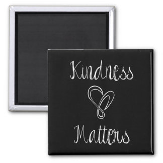 Kindness Matters Heart 2 Inch Square Magnet