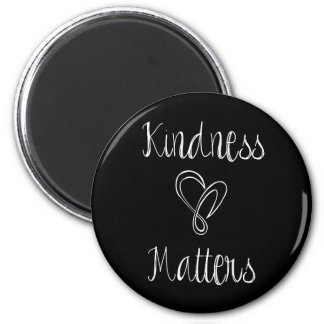 Kindness Matters Heart 6 Cm Round Magnet
