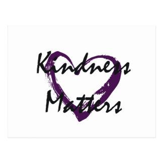 Kindness Matters Heart Postcard