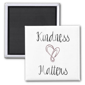 Kindness Matters Heart Square Magnet