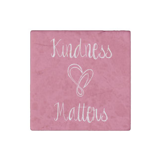 Kindness Matters Heart Stone Magnet