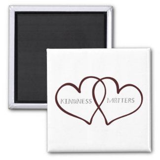 Kindness Matters Hearts Refrigerator Magnet