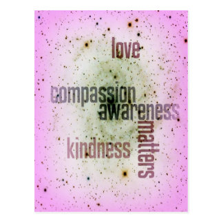Kindness Matters Universal Love Postcard