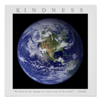 KINDNESS - Motivational Print w Gandhi quote