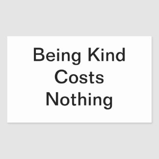Kindness Rectangular Sticker