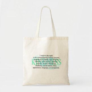 'Kindness' reusable shopping bag