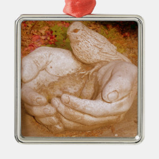 Kindness To All Silver-Colored Square Decoration
