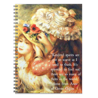Kindred Spirits - Anne of Green Gables Quote Notebook