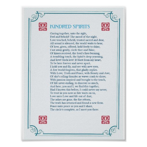 Kindred Spirits - Poetry On Passion & Love - Print