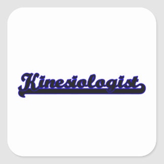Kinesiologist Classic Job Design Square Sticker