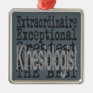 Kinesiologist Extraordinaire Silver-Colored Square Decoration