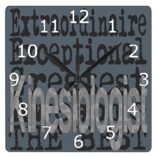 Kinesiologist Extraordinaire Square Wall Clock