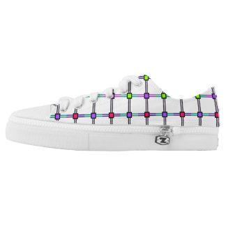 Kinetic Plaid Rainbow Diamond Print Printed Shoes