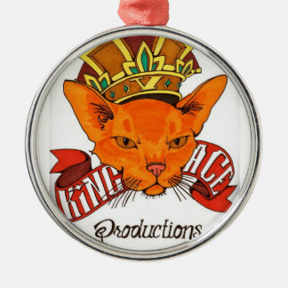 King Ace Productions Silver-Colored Round Decoration