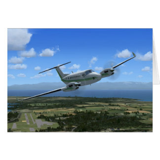 King-Air Turboprop Aircraft Card