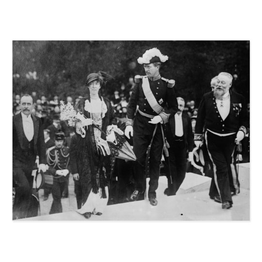 King Albert & Queen Elizabeth Ghent expo 1913 Postcard