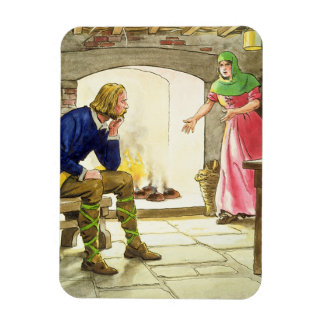 King Alfred (849-99) burning the cakes, from 'Peep Vinyl Magnet