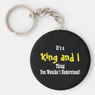 King and I Keychain