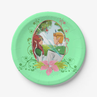 King and Queen Custom Paper Plates 7""