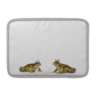 King and Queen frog looking at each other MacBook Sleeve