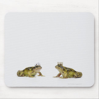 King and Queen frog looking at each other Mouse Mat
