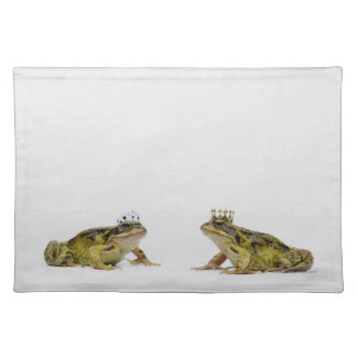 King and Queen frog looking at each other Placemat