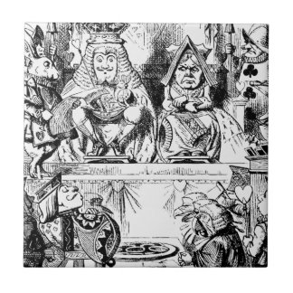 King and Queen of Hearts Alice in Wonderland Tile