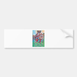 King and Queen of Hearts and the Cheshire Cat Bumper Stickers