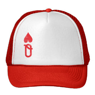 King and Queen of Hearts Playing Cards Couples Cap