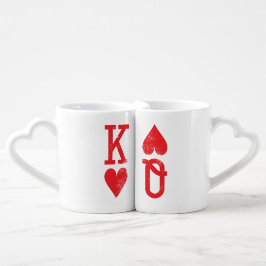 King and Queen of Hearts Playing Cards Couples
