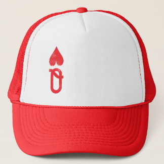 King and Queen of Hearts Playing Cards Couples Trucker Hat