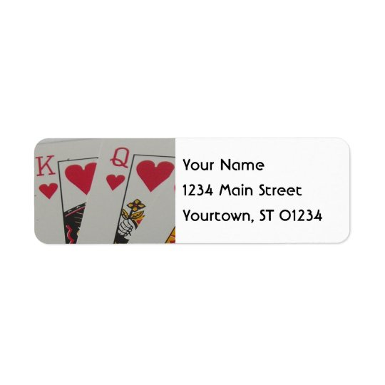 King and Queen of Hearts Return Address Label