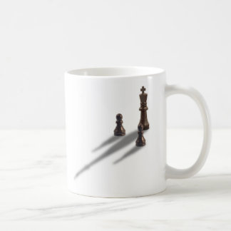 King and two Pawns Basic White Mug