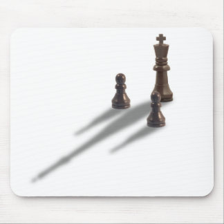 King and two Pawns Mouse Mat