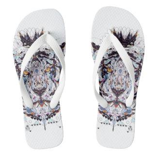 King Apparel Lion Flip Flops