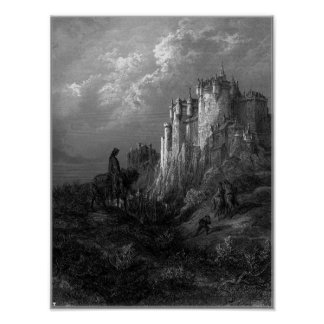 King Arthur and Camelot by Gustave Doré' 1868 Poster