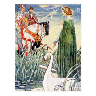 King Arthur and the Lady of the Lake Postcard